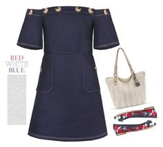"""""""4th of July"""" by tawnee-tnt ❤ liked on Polyvore featuring Salvatore Ferragamo, denim, dress and fourthofjuly"""
