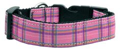 Mirage Pet Dog Cats Indoor Outdoor Training And Behavior Aids Accessories Plaid Nylon Collar Pink Medium *** Click image to review more details. (This is an affiliate link and I receive a commission for the sales)