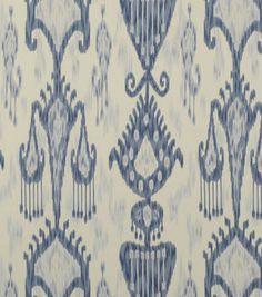 Home Decor Print Fabric-Robert Allen Khandar Indigo
