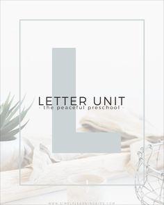 Letter L Preschool Unit - Simply Learning Letters For Kids, Preschool Letters, Preschool Curriculum, Learning Letters, Preschool Ideas, Simply Learning, Kids Learning, Finger Plays, Letter L