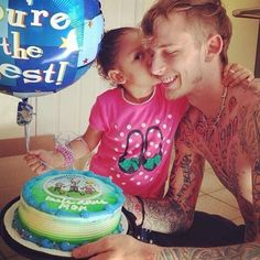 Absolutely too cute for words! MGK & his daughter Cassie.
