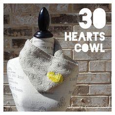 Free Pattern: 30 HEARTS cowl by Alexandra Davidoff