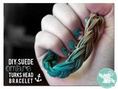DIY Suede Ombre Turks Head Bracelet