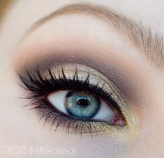 Gold, Taupe, & Warm Brown Eye Shadow + Tutorial