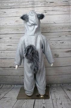 Ardilla polar bebé traje de traje de paño grueso y suave de