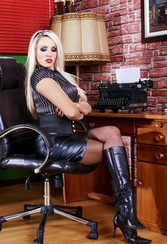 blonde milf in leather high heelboots Thigh High Boots, High Heel Boots, Knee Boots, Heeled Boots, High Heels, Leather Boots, Black Leather, Leather Skirt, Skirts With Boots