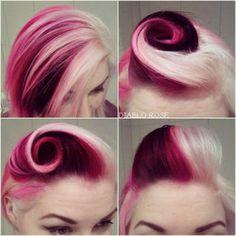 Double Rose Pin Up Hairstyle #diablorose #hairdo #updo