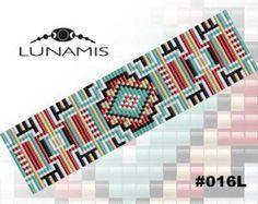 Loom bracelet pattern loom pattern square от LunamisBeadsPatterns