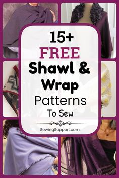Free fabric shawl and wrap sewing patterns. Fifteen diy projects and tutorials to sew. Free fabric shawl and wrap sewing patterns. Fifteen diy projects and tutorials to sew. Gifts For Boss, Gifts For Teens, Love Gifts, Fun Gifts, Wrap Pattern, Pattern Sewing, Sewing Projects, Diy Projects, Presents For Her