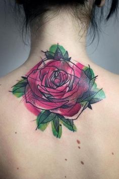 watercolor rose tattoo - I love watercolor tattoos!watercolor rose tattoo - I love watercolor tattoos! Ink Tattoo, Tattoo Son, Sketch Tattoo, Nape Tattoo, Lotus Tattoo, Tatoo Rose, Tattoo Fleur, Lilac Tattoo, Tattoo Arrow