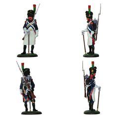 """Zapador - Joven Guardia - Francia - 1809 (Colección """"Soldados de las Guerras Napoleónicas"""" editada por delPrado - 60 mm)"""