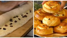 Excellent slugs of sour dough with excellent filling of cottage cheese and sour . - Slovak & Czech & Polish & Russian Recipes and advices - Russian Recipes, Cottage Cheese, Sour Cream, Doughnut, Bread, Fruit, Ethnic Recipes, Food, Polish Recipes