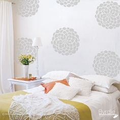 Vinyl Wall Decals- 10 Flower Bloom Graphics, Wallpaper, Stickers, item 10010. $42.00, via Etsy.