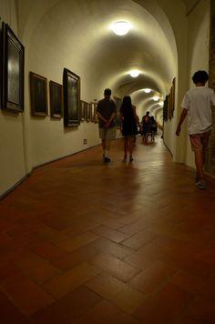 Interior galleries of Vasari Corridor - Florence