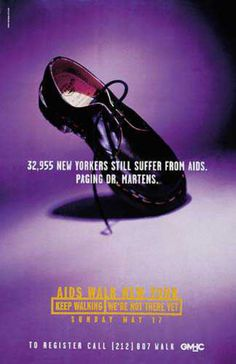 Read more: https://www.luerzersarchive.com/en/magazine/print-detail/2371.html 32,955 New Yorkers still suffer from Aids. Paging Dr. Martens. Pay-off: Aids walk New York. Keep walking. We´re not there yet. Tags: Young & Rubicam (Y&R), New York,Robert Dufour,Betsy Petropoulos,GMHC,Nicholas Everleigh