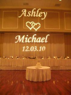 Wedding Gobo Projection Monogram Lighting Name In Lights & Wedding Gobo Projection