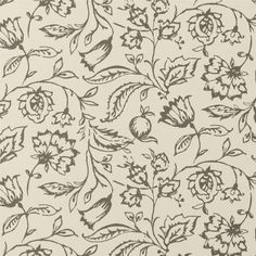 Marie Charcoal/Cream Floral Wallpaper - W0031/01