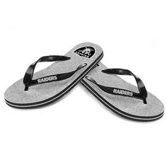 Oakland Raiders Women's Glitter Flip Flop Sandals