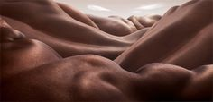 Bodyscapes by photographer Carl Warner | purple leaves
