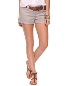 Cuffed Pinstripe Shorts   FOREVER21 - 2000035800
