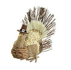 RAZ Imports - 9'' Thanksgiving Turkey in a Pilgrim Hat Decoration