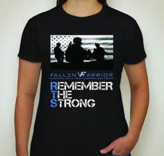 Remember The Strong - Women's Army Patriotic T-Shirt