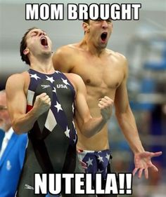 Mom bought nutella!