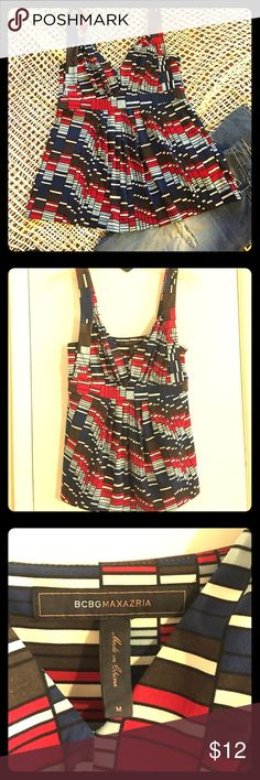 BCBG sleeveless top BCBG Maxazria Sleeveless Top size M Women's. In like new condition. BCBG Tops