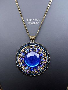 Hey, I found this really awesome Etsy listing at https://www.etsy.com/listing/260997768/blue-mosaic-pendant