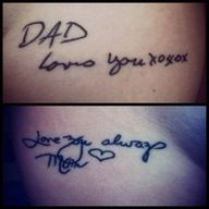 I love the idea of a signature tattoo, but I would like to do my future children's signatures when they learn to write their names.