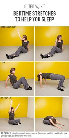 After a long day of work and fitness, treat yourself to some sleepy-time exercises