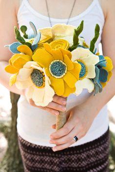 Custom Wedding Wildflower Felt Bouquet  by munclefredart on Etsy, $181.00
