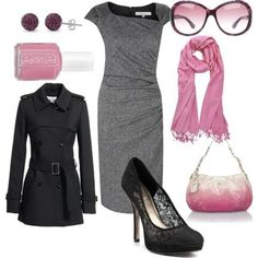 Love the pink and grey!