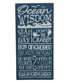 Another great find on #zulily! 'Ocean Wisdom' Wall Sign #zulilyfinds