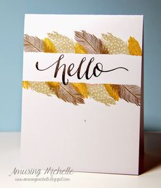 Amusing Michelle - this chick is awesome. One of my favorite stampers ever. I mean, do you SEE this card!? I'd buy it.
