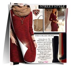 """~Red Winter~"" by amethyst0818 ❤ liked on Polyvore featuring Topshop, women's clothing, women's fashion, women, female, woman, misses and juniors"