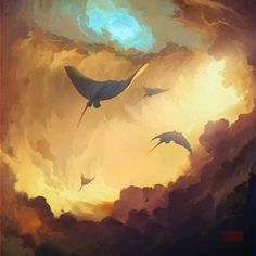 You! Be Inspired! – Artist Paints Dreamlike Scenes of Flying Whales