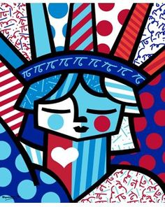 Romero Britto - Statue of Liberty pop art … 2nd Grade Art, Arte Country, Graffiti Painting, Middle School Art, Art Lessons Elementary, Arts Ed, Art Graphique, Art Classroom, Summer Art