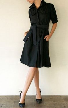 Vestidos chemise pretos