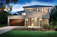 The Sandarah facade by Aspire Designer Homes House Design Photos, Modern House Design, Beautiful Modern Homes, Exterior House Colors, Facade Design, New Home Designs, Facade House, Modern Exterior, Maine House