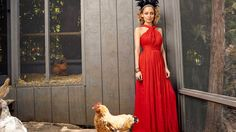 The former reality TV star has her own little urban farm, including a handsome henhouse.