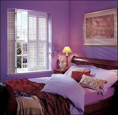 Bi-folding with mid-rail. Bedroom Shutters, Bedroom Windows, Window Shutters, Shutter Images, Art Deco Home, Living Room Kitchen, Clean Design, Room Colors, House Design