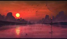 Fisher Landscape Digital Painting by misi006.deviantart.com on @deviantART