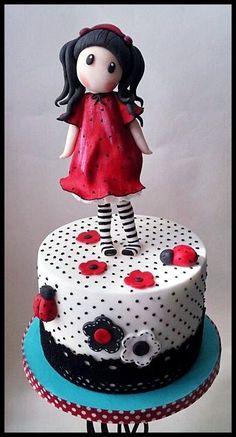 Gorjuss loves Ladybirds cake
