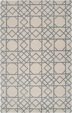 Slate blue and ivory in an intricate lattice design. Part of the Goa Collection by Surya. (G-5088)