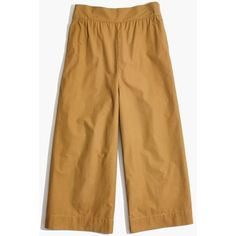 MADEWELL Mayfield Culotte Pants (905.215 IDR) ❤ liked on Polyvore featuring pants, capris, classic desert, wide leg cropped pants, cropped pants, cropped trousers, brown crop pants and wide leg cropped trousers