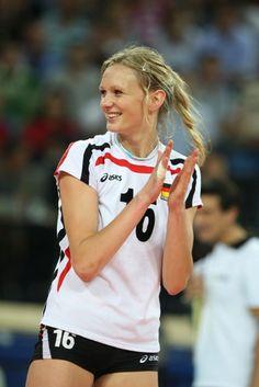 Margareta Kozuch, german volleyball player  Great player, she always smiles