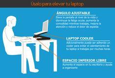 Úsalo para elevar tu laptop!