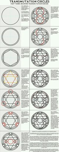 "Sigils & Symbols: ""Part Three: Drawing Transmutation Circles"". Full Metal Alchemist / Hagane No Renkinjutsushi. Sigils & Symbols: Part Three: Drawing Transmutation Circles. Full Metal Alchemist / Hagane No Renkinjutsushi. Full Metal Alchemist, Pentacle, Chakra Symbole, 鋼の錬金術師 Fullmetal Alchemist, Magic Symbols, Occult Symbols, Magic Circle, Book Of Shadows, Inspiration"