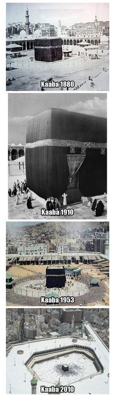 Kaaba Timeline. May we all go there someday, Insha-Allah :)
